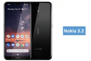 Nokia 3.2 smartphone