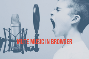 How to mute the music that starts playing automatically from a web page