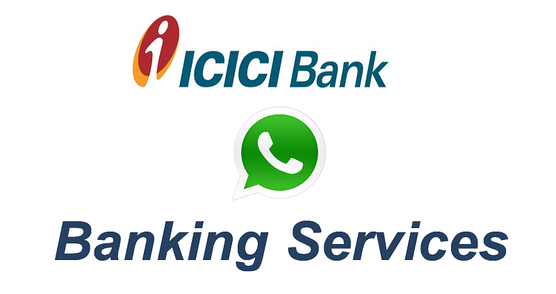 WhatsApp Banking services for ICICI