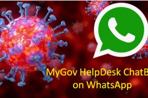 MyGov Corona Helpdesk chatbot