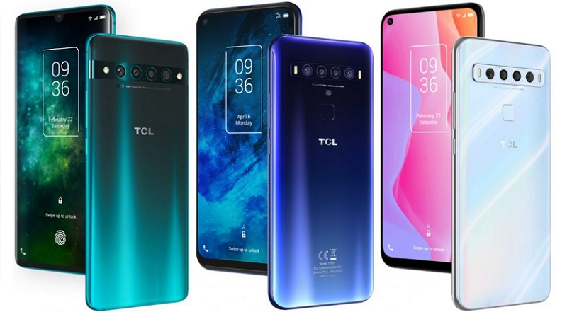TCL 10 series smartphone