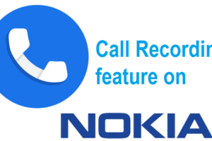 call recording feature in Nokia mobile