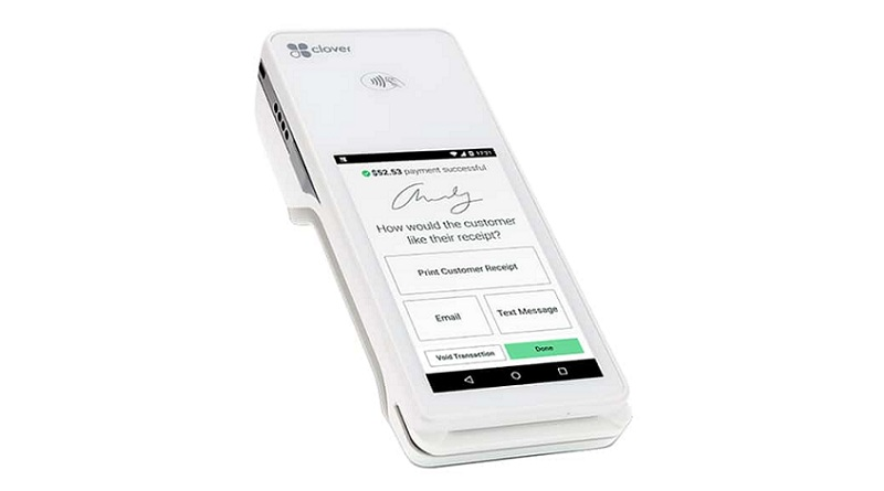 electronic payments through a device like the Clover Flex terminal