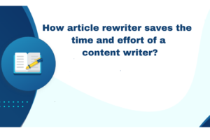 Benefits of using article rewriters